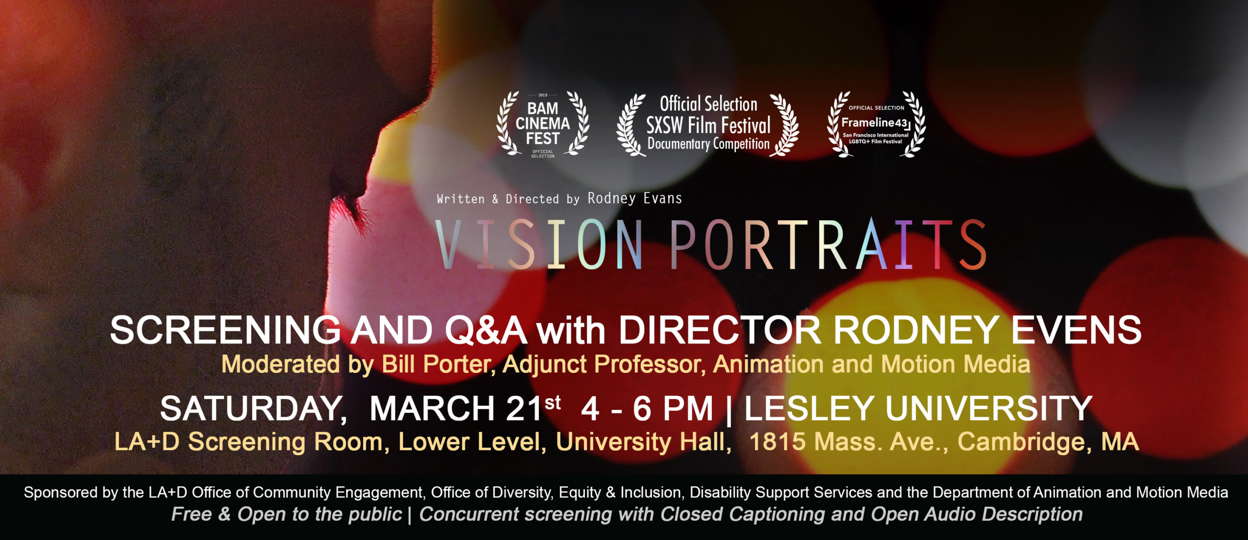 Vision Portraits Film Screening at Lesley University